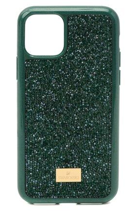 Мужской чехол для iphone 11 pro max glam rock SWAROVSKI зеленого цвета, арт. 5552654 | Фото 1