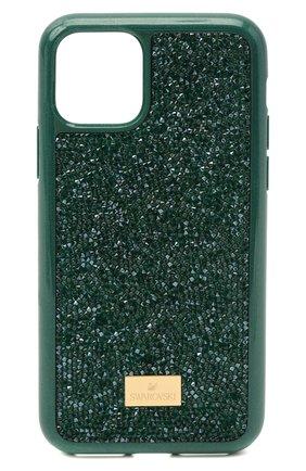Мужской чехол для iphone 11 pro glam rock SWAROVSKI зеленого цвета, арт. 5549939 | Фото 1