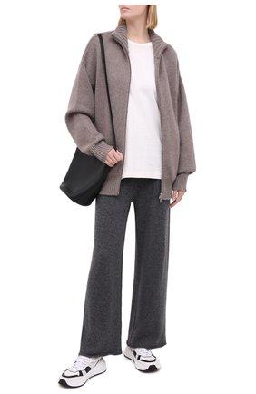 Женские кашемировые брюки NOT SHY серого цвета, арт. 3701032C   Фото 2