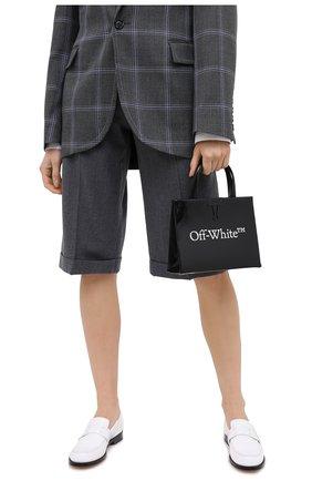 Женская сумка box mini OFF-WHITE черного цвета, арт. 0WNA059E20LEA0011001 | Фото 2