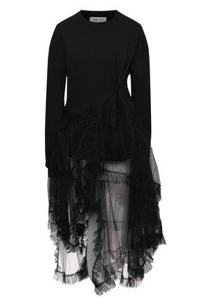 Женский хлопковый пуловер ACT N1 черного цвета, арт. PFF2006 | Фото 1