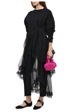 Женский хлопковый пуловер ACT N1 черного цвета, арт. PFF2006 | Фото 2