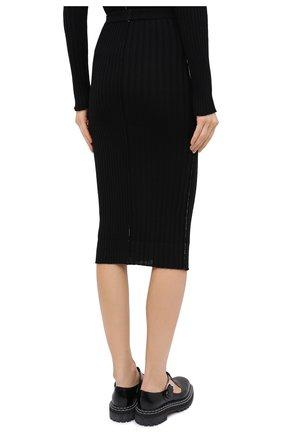 Женская шерстяная юбка ACT N1 черного цвета, арт. PFK2001 | Фото 4 (Материал внешний: Шерсть; Женское Кросс-КТ: Юбка-карандаш; Длина Ж (юбки, платья, шорты): Миди; Стили: Кэжуэл)