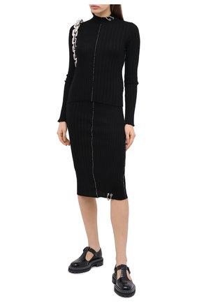 Женский шерстяной пуловер ACT N1 черного цвета, арт. PFK2003 | Фото 2