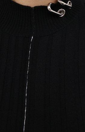 Женский шерстяной пуловер ACT N1 черного цвета, арт. PFK2003   Фото 5 (Материал внешний: Шерсть; Рукава: Длинные; Длина (для топов): Стандартные; Женское Кросс-КТ: Пуловер-одежда; Стили: Кэжуэл)