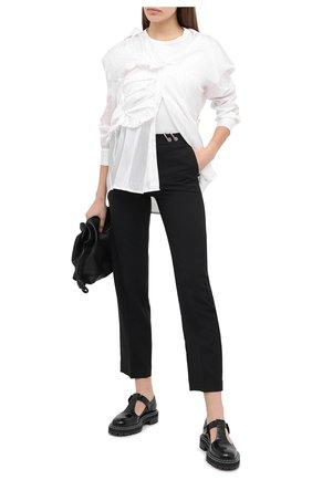Женские шерстяные брюки ACT N1 черного цвета, арт. PFP2003 | Фото 2