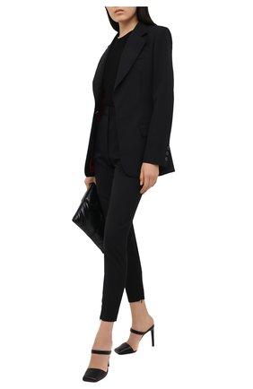 Женские шерстяные брюки BARBARA BUI черного цвета, арт. W1600EAK | Фото 2