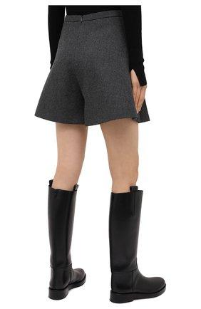 Женские шерстяные шорты BARBARA BUI серого цвета, арт. W1651WAR   Фото 4 (Женское Кросс-КТ: Шорты-одежда; Материал внешний: Шерсть; Длина Ж (юбки, платья, шорты): Мини; Материал подклада: Синтетический материал; Стили: Кэжуэл)