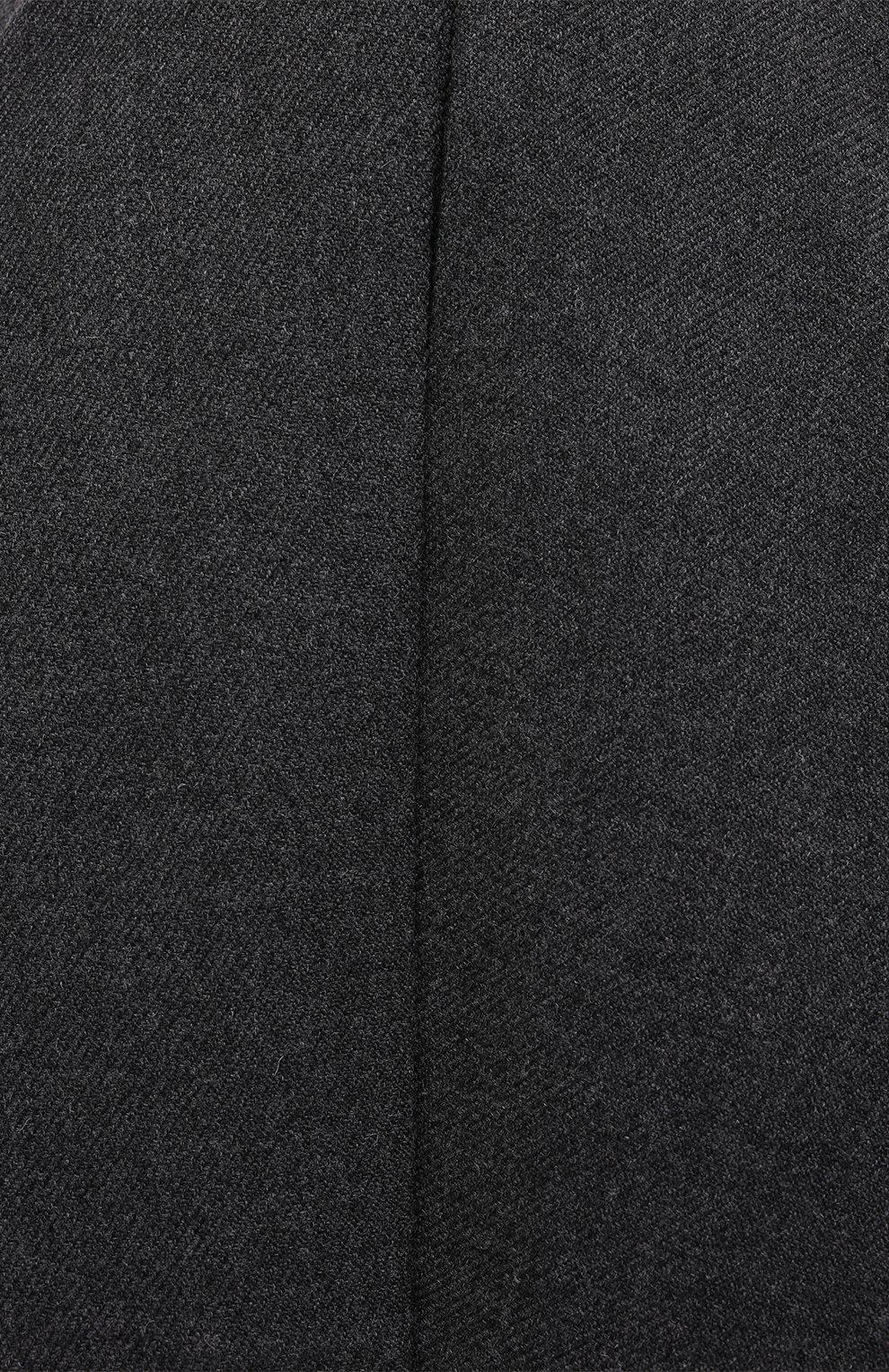 Женские шерстяные шорты BARBARA BUI серого цвета, арт. W1651WAR   Фото 5 (Женское Кросс-КТ: Шорты-одежда; Материал внешний: Шерсть; Длина Ж (юбки, платья, шорты): Мини; Материал подклада: Синтетический материал; Стили: Кэжуэл)