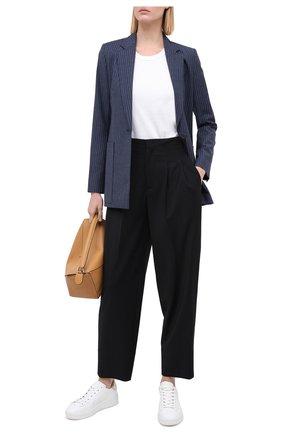 Женские шерстяные брюки LORENA ANTONIAZZI черного цвета, арт. SI2003PA003/318   Фото 2