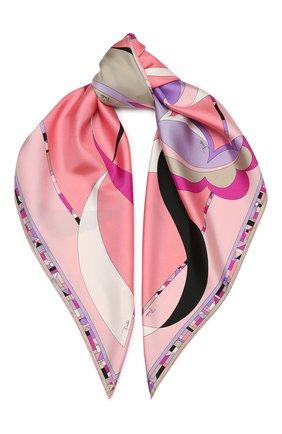 Женский шелковый платок EMILIO PUCCI бежевого цвета, арт. 0UGB22/0UE22 | Фото 1