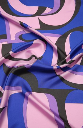 Женский шелковый платок EMILIO PUCCI синего цвета, арт. 0UGB32/0UE32 | Фото 2