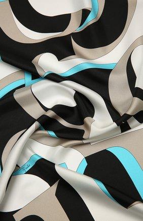 Женский шелковый платок EMILIO PUCCI коричневого цвета, арт. 0UGB32/0UE32 | Фото 2