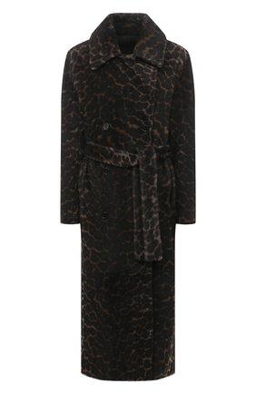 Женская шуба из овчины YVES SALOMON темно-серого цвета, арт. 21WYM64392MERL | Фото 1