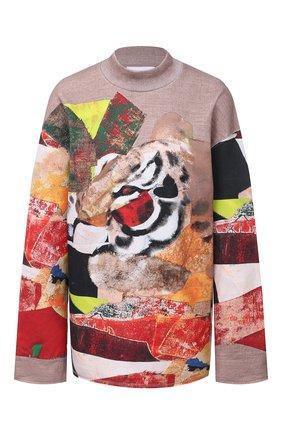 Женский хлопковый пуловер KENZO разноцветного цвета, арт. FA65MSW174D9 | Фото 1