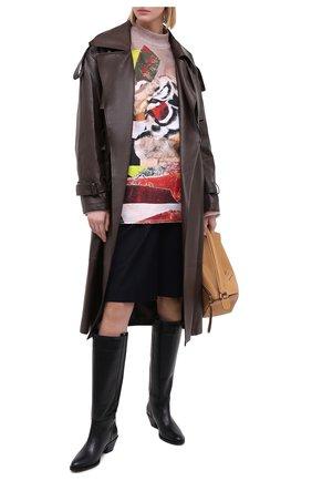 Женский хлопковый пуловер KENZO разноцветного цвета, арт. FA65MSW174D9 | Фото 2