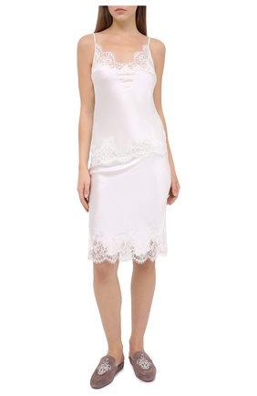 Женская юбка I.D. SARRIERI белого цвета, арт. L3050 | Фото 2
