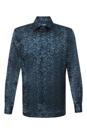 Мужская шелковая рубашка ZILLI синего цвета, арт. MFU-27001-1668/0004 | Фото 1