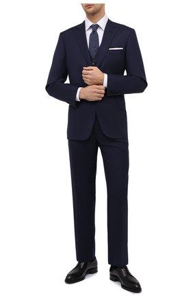 Мужской шерстяной костюм-тройка BRIONI темно-синего цвета, арт. RS0J0L/09A0X/BRUNIC0/G | Фото 1