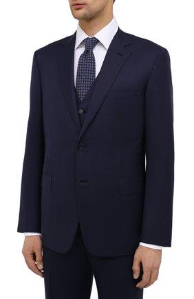 Мужской шерстяной костюм-тройка BRIONI темно-синего цвета, арт. RS0J0L/09A0X/BRUNIC0/G | Фото 2