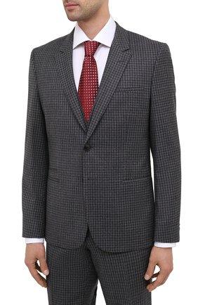 Мужской шерстяной костюм-тройка HUGO серого цвета, арт. 50440158 | Фото 2