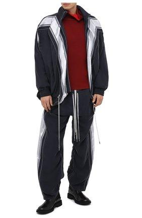 Мужской хлопковый свитер Y/PROJECT бордового цвета, арт. MPULL52-S19 Y21 | Фото 2