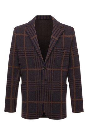 Мужской кашемировый пиджак KITON коричневого цвета, арт. UG3X01T81   Фото 1