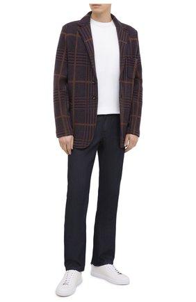 Мужской кашемировый пиджак KITON коричневого цвета, арт. UG3X01T81   Фото 2