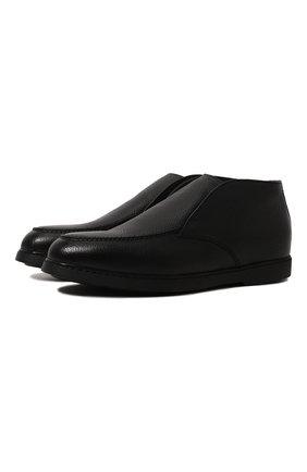 Мужские кожаные ботинки DOUCAL'S темно-синего цвета, арт. DU2654ED0-UM019NB00 | Фото 1