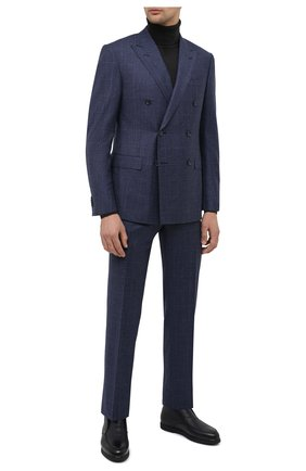 Мужские кожаные ботинки DOUCAL'S темно-синего цвета, арт. DU2654ED0-UM019NB00 | Фото 2