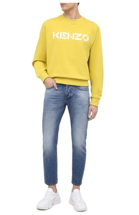 Мужской хлопковый свитшот KENZO желтого цвета, арт. FA65SW0004MD   Фото 2
