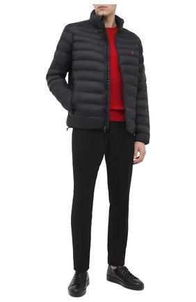Мужской шерстяной джемпер POLO RALPH LAUREN красного цвета, арт. 710667378 | Фото 2