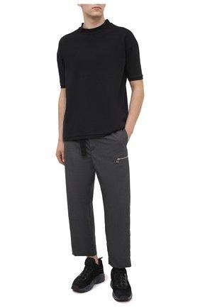 Мужская хлопковая футболка THOM KROM черного цвета, арт. M TS 530 | Фото 2