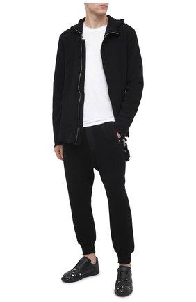 Мужская хлопковый кардиган THOM KROM черного цвета, арт. M SJ 445 | Фото 2