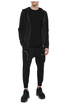 Мужская хлопковая толстовка THOM KROM черного цвета, арт. M SJ 441 | Фото 2