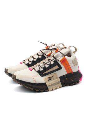 Мужские кроссовки zig kinetica edge REEBOK бежевого цвета, арт. FV3835 | Фото 1