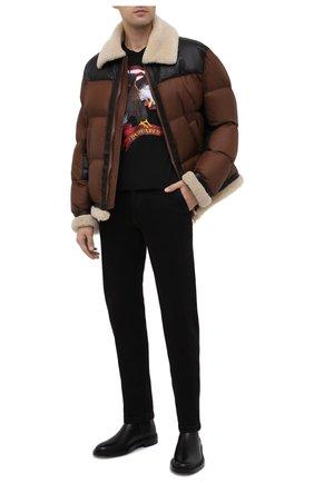 Мужская комбинированная куртка NEIL BARRETT коричневого цвета, арт. BSP529C/P183C | Фото 2