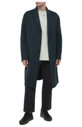 Мужские кожаные кеды TOD'S черного цвета, арт. XXM79B0BS11JUS | Фото 2