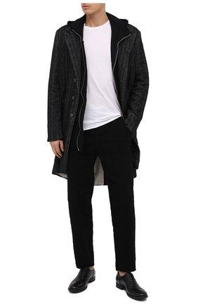 Мужские кожаные оксфорды PANTANETTI черного цвета, арт. 11910H | Фото 2