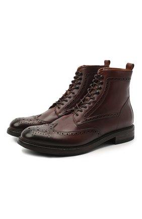 Мужские кожаные ботинки PANTANETTI коричневого цвета, арт. 13929D | Фото 1