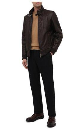 Мужские кожаные ботинки PANTANETTI коричневого цвета, арт. 13929D | Фото 2