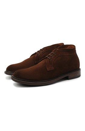 Мужские замшевые ботинки PANTANETTI коричневого цвета, арт. 13971B | Фото 1
