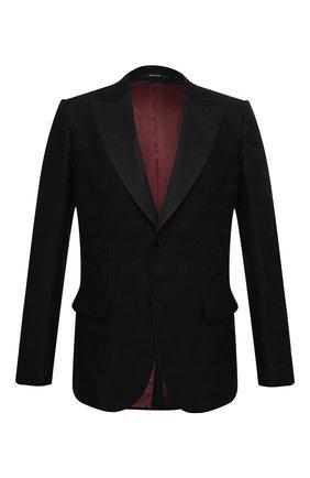 Мужской пиджак GUCCI черного цвета, арт. 625325/ZADC7 | Фото 1