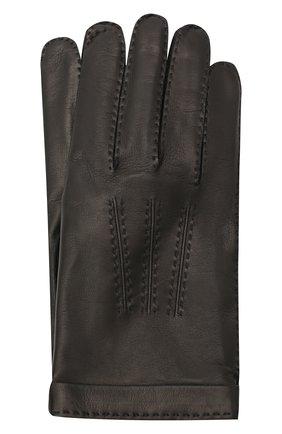 Мужские кожаные перчатки CORTIGIANI черного цвета, арт. 911155/0000 | Фото 1