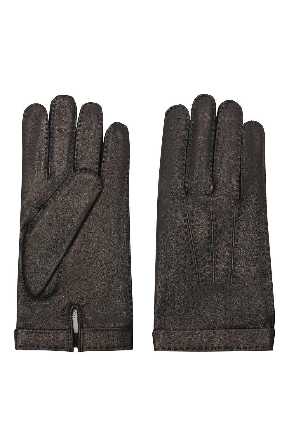 Мужские кожаные перчатки CORTIGIANI черного цвета, арт. 911155/0000   Фото 2