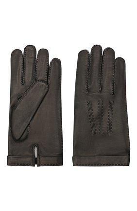 Мужские кожаные перчатки CORTIGIANI черного цвета, арт. 911155/0000 | Фото 2