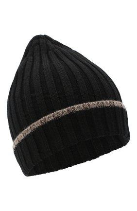 Мужская кашемировая шапка CORTIGIANI черного цвета, арт. 911125/0000 | Фото 1