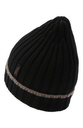 Мужская кашемировая шапка CORTIGIANI черного цвета, арт. 911125/0000 | Фото 2