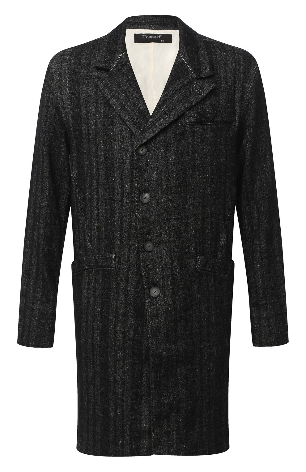 Мужской пальто TRANSIT темно-серого цвета, арт. CFUTRMJ193 | Фото 1