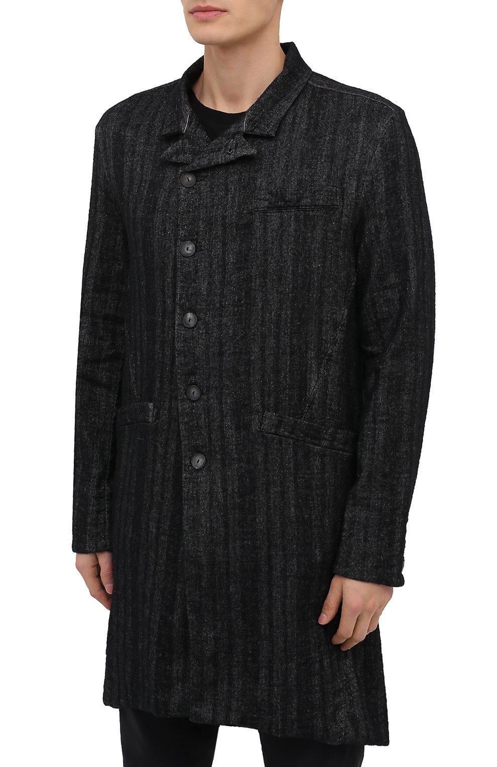 Мужской пальто TRANSIT темно-серого цвета, арт. CFUTRMJ193 | Фото 3